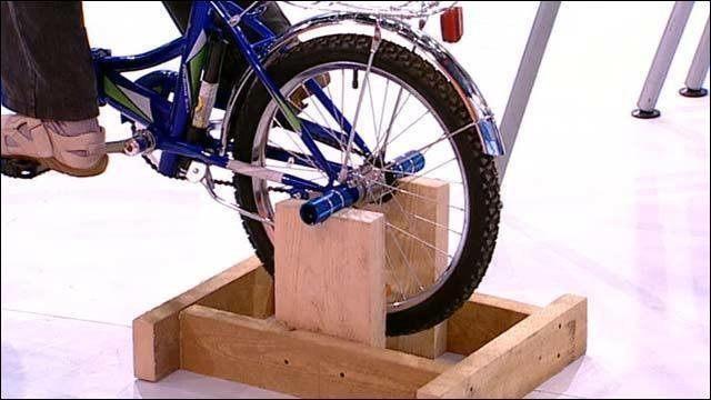 Как самому сделать велотренажер на подставке