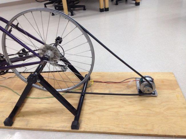 Подсоединение к самодельному велотренажеру электрогенератора